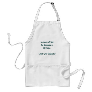 My Standard of Cooking Standard Apron