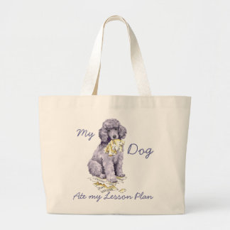 My Standard Poodle Ate my Lesson Plan Jumbo Tote Bag