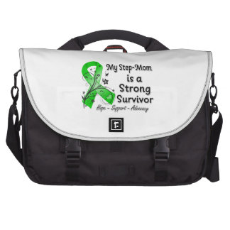 My Step-Mom is a Strong Survivor Green Ribbon Commuter Bags