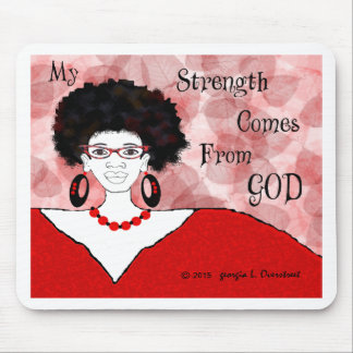 my strength comes from you mouse mat