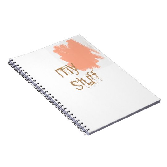 my stuff spiral notebook