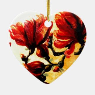 MY SUMMER CERAMIC HEART DECORATION