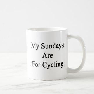 My Sundays Are For Cycling Basic White Mug