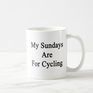 My Sundays Are For Cycling Mugs