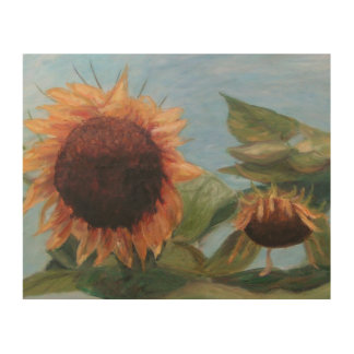 MY SUNFLOWERS Wood Wall Art