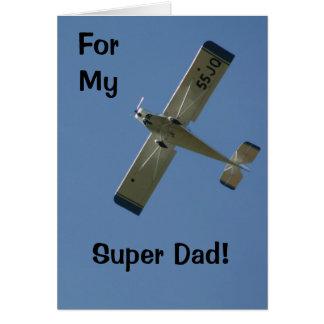my super dad greeting card