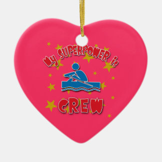 My Superpower is Crew Christmas Ornament