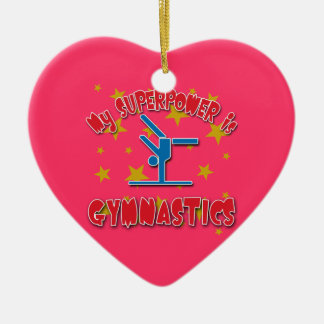 My Superpower is Gymnastics Christmas Ornament
