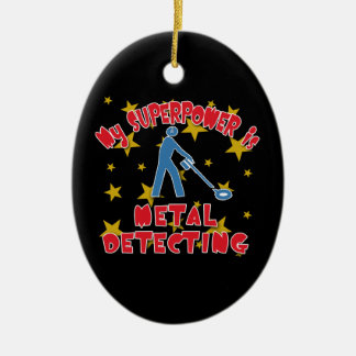 My Superpower is Metal Detecting Ceramic Oval Decoration