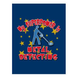 My Superpower is Metal Detecting Postcard