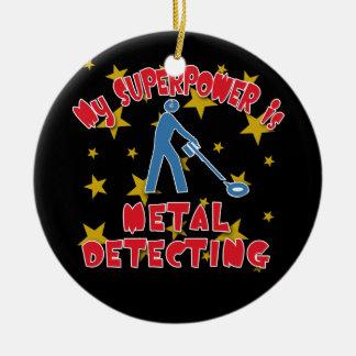 My Superpower is Metal Detecting Round Ceramic Decoration