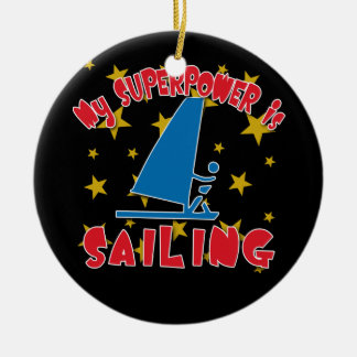 My Superpower is Sailing Christmas Ornament