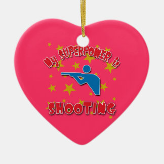 My Superpower is Shooting Christmas Ornament
