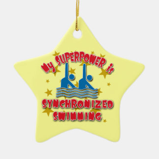 My Superpower is Synchronized Swimming Christmas Ornament