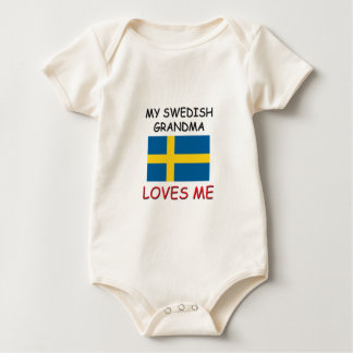 My Swedish Grandma Loves Me Baby Bodysuit
