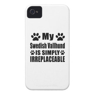My Swedish Vallhund is simply irreplaceable iPhone 4 Case-Mate Cases