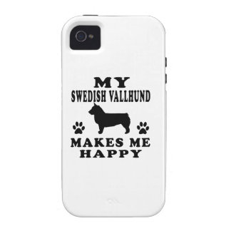 My Swedish Vallhund Makes Me Happy Case-Mate iPhone 4 Cover