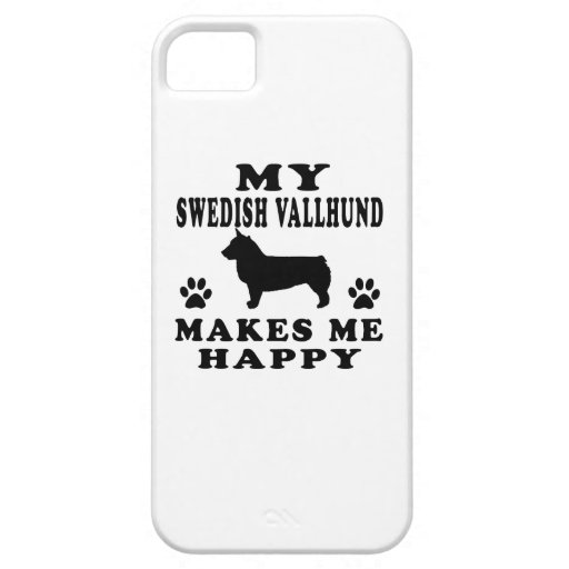 My Swedish Vallhund  Makes Me Happy Cover For iPhone 5/5S