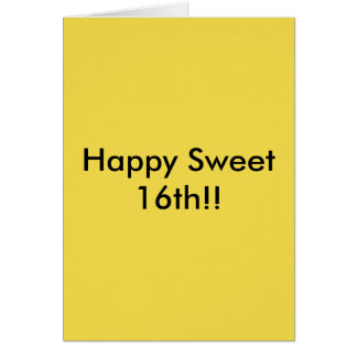 My Sweet 16th Intent Greeting Card