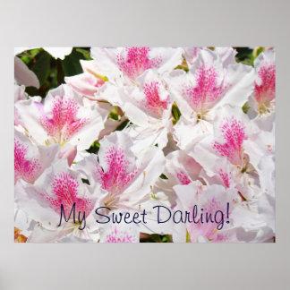 My Sweet Darling! art print Pink Azalea Flowers