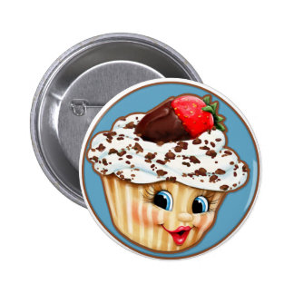 My Sweet Little Cupcake 6 Cm Round Badge