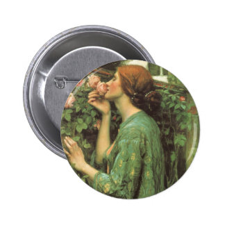 My Sweet Rose, or Soul of the Rose by Waterhouse 6 Cm Round Badge