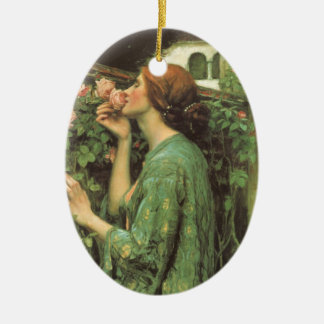 My Sweet Rose, or Soul of the Rose by Waterhouse Christmas Ornament
