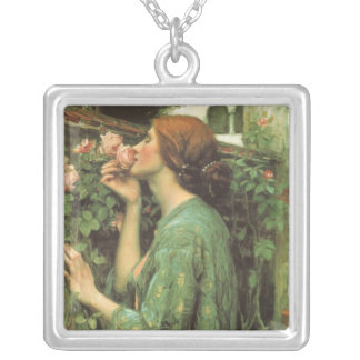 My Sweet Rose, or Soul of the Rose by Waterhouse Square Pendant Necklace
