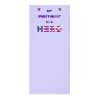 My Sweetheart Is A Hero Custom Rack Card