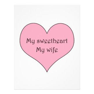 My Sweetheart  My Wife 21.5 Cm X 28 Cm Flyer