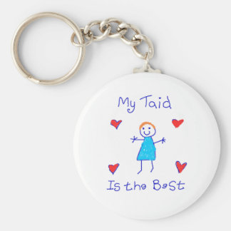 My Taid is the Best Basic Round Button Key Ring