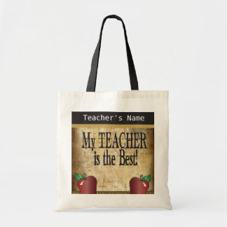 My Teacher is the Best | DIY Name Budget Tote Bag