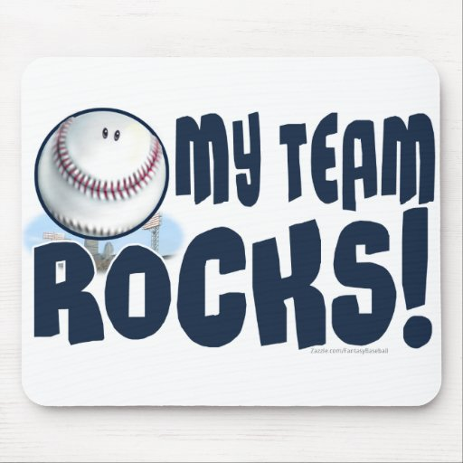 My Team Rocks Mousepad Zazzle