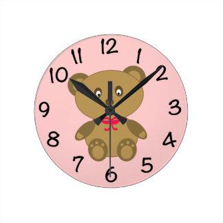 My Teddy Bear Round Clock