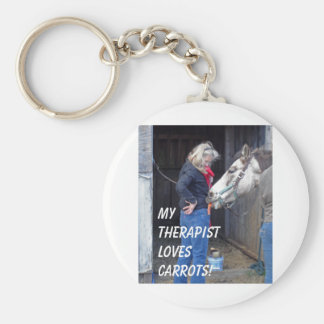 My Therapist Loves Carrots! Basic Round Button Key Ring