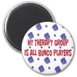 my therapy group is all bunco players refrigerator magnet
