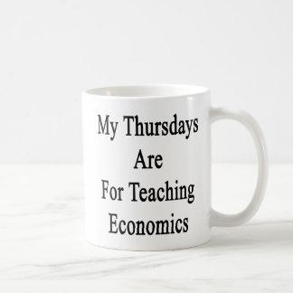 My Thursdays Are For Teaching Economics Basic White Mug
