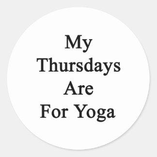 My Thursdays Are For Yoga Round Sticker