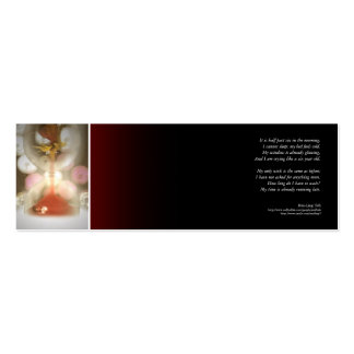 My time is already running late poetry bookmark business card templates