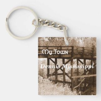 My Town - Dennis Mississippi Single-Sided Square Acrylic Key Ring