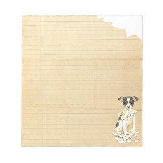My Toy Fox Terrier Ate my Homework Notepad