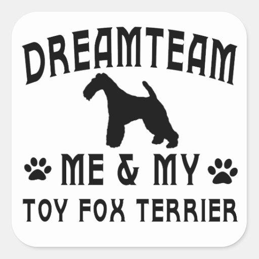 My Toy Fox Terrier Dog Stickers