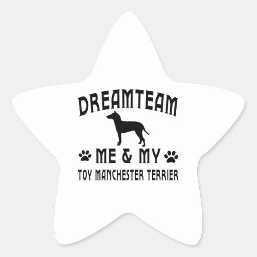My Toy Manchester Terrier Dog Star Sticker