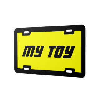 My Toy Metal License Plate