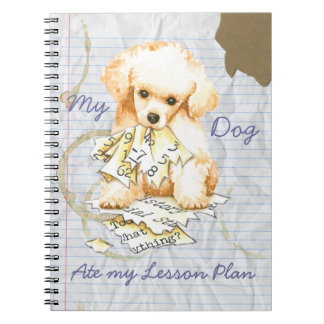 My Toy Poodle Ate My Lesson Plan Spiral Notebooks