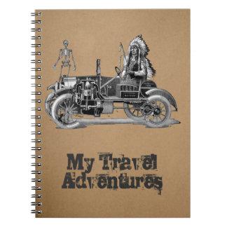 My travel adventures spiral note book