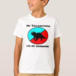 My Triceratops ate my homework Tee Shirt