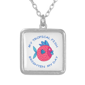 MY TROPICAL FISH SQUARE PENDANT NECKLACE