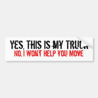 My Truck Bumper Sticker