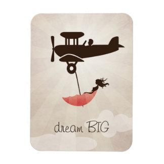 My Tuesday Dream - Umbrella Fantasy Rectangular Photo Magnet